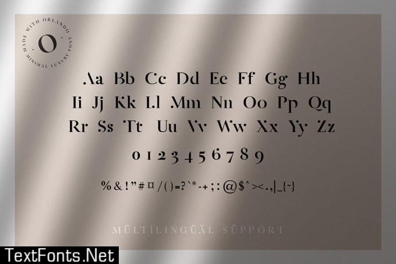 Orlande - Luxury Serif Font LPFET98