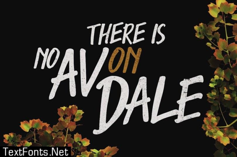 Avondale Typeface Font
