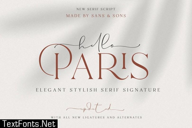 Hello Paris   Modern Paired Duo