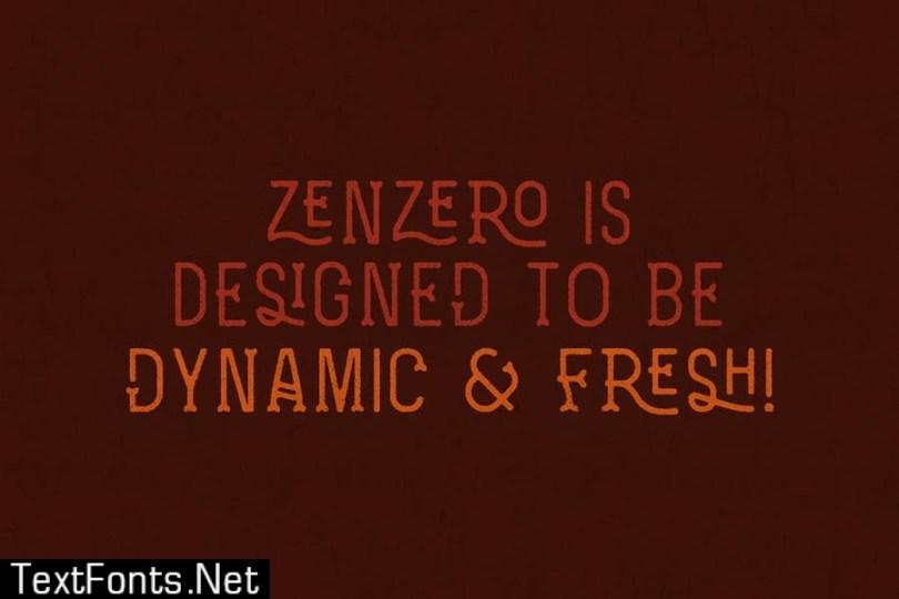 Zenzero Grotesk Typeface Font