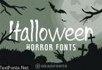 Halloween Horror Font Bundle