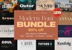 Modern Font Bundle 4358653