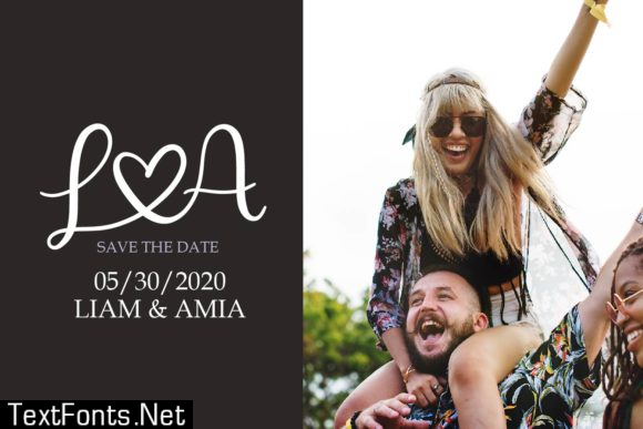 Couples Monogram Font