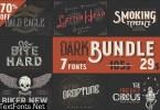Dark Bundle: 7 Bestseller Fonts 956263