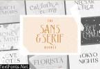 The Sans & Serif Font Bundle
