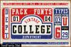 Vintage College Font