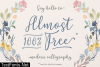 Almost 100% Free Font