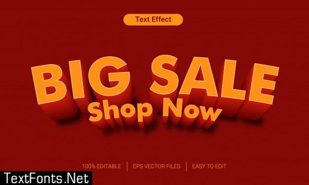 Big sale orange 3d text style effect