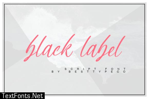 Black Label Font