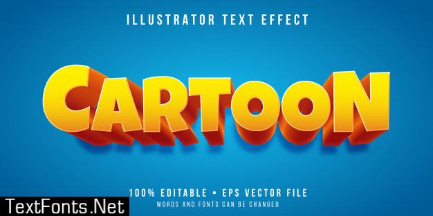 Editable text effect - cartoon show style