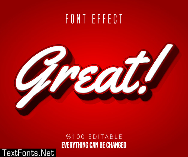 Great text, editable font effect