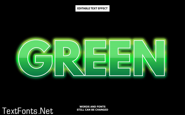 Green text style effect