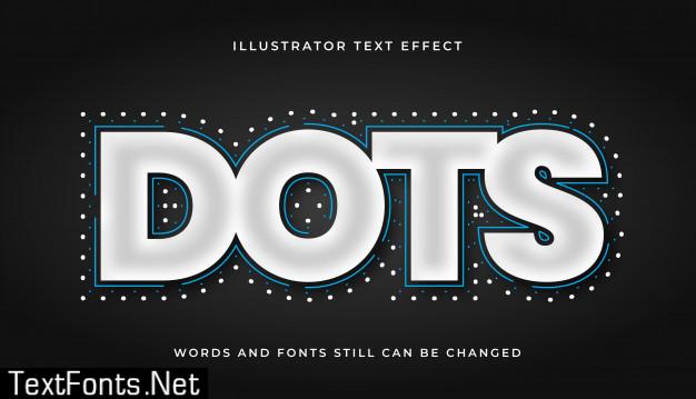 Modern editable dots text effect