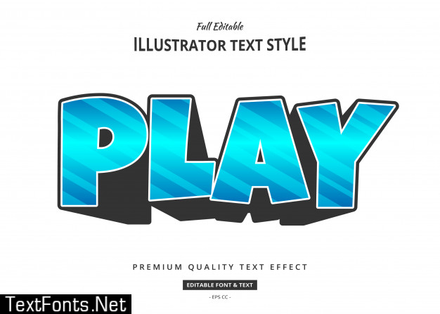 Modern text effect illustration
