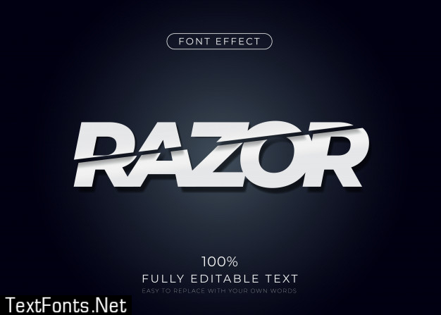 Sliced text effect. editable font style