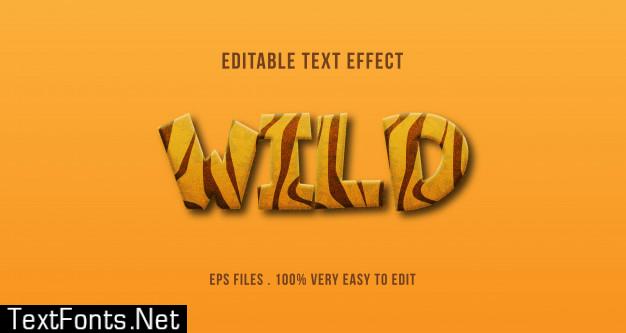 Wild animal print text effect