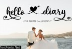 Hello Diary - Love Theme Calligraphy Font