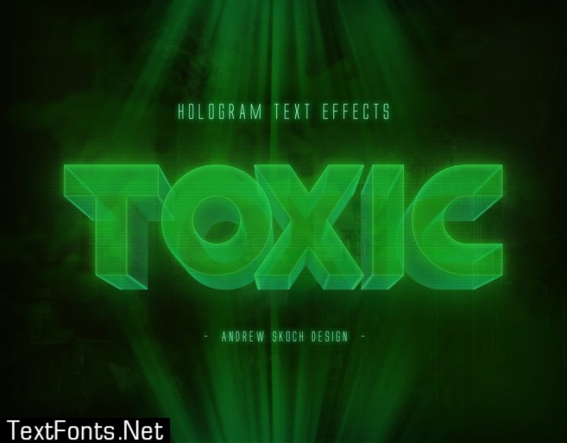 Hologram Text Effects ZECG9J2