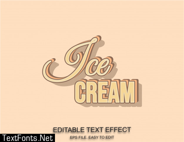 Ice cream text effect