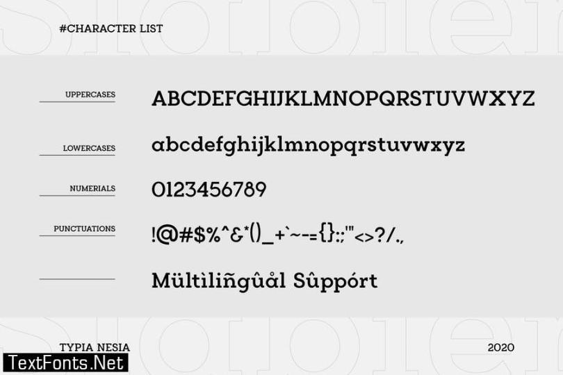 Slabien - Slab Serif Font