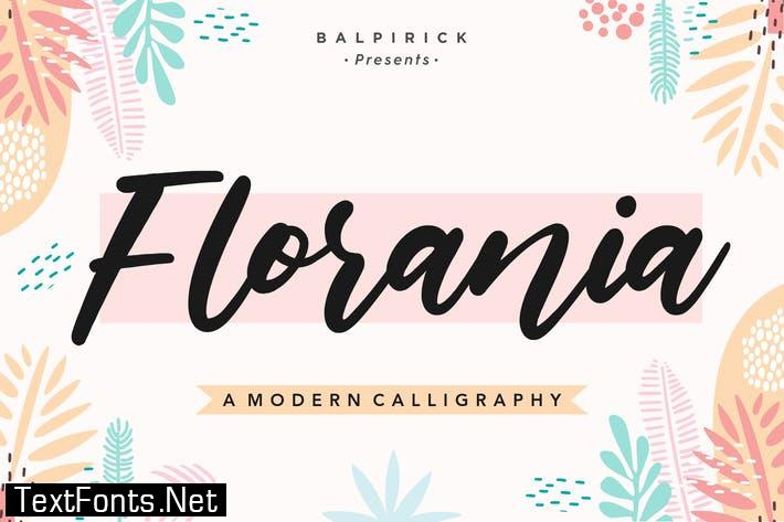 Florania YH - Modern Script Font