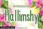 Hallimshy Font