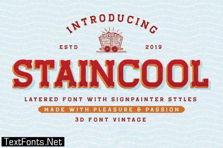 Staincool Extrude Font