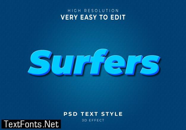 3d modern text style