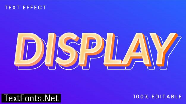 Display text style effect