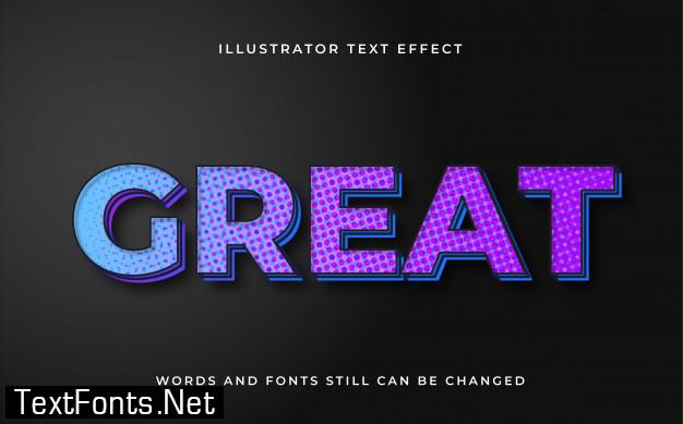 Modern editable text with light effect