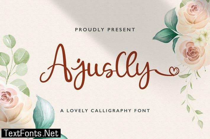 Ajuslly - Modern Calligraphy Font