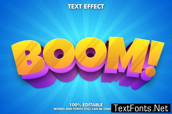 Boom Text Effect