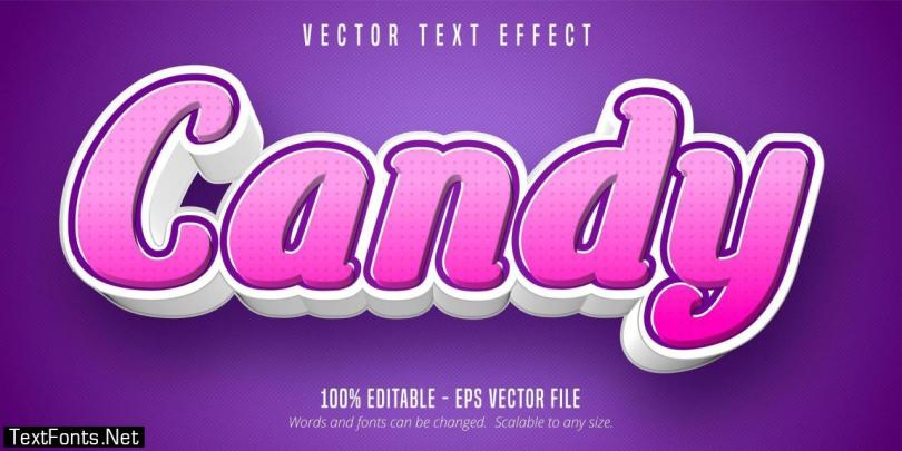 Candy pink italic text effect