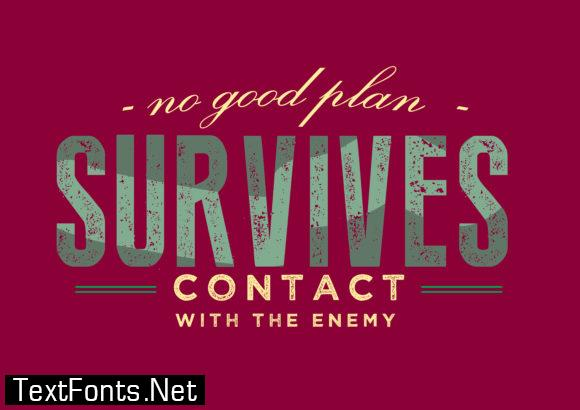 Contact with the Enemy - Typography Graphic Templates