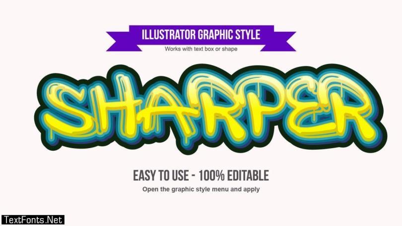 Dripping Graffiti Text Effect