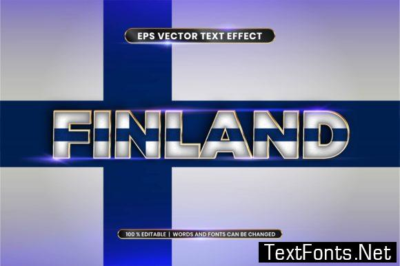 Editable Text Effect - Finland with Flag