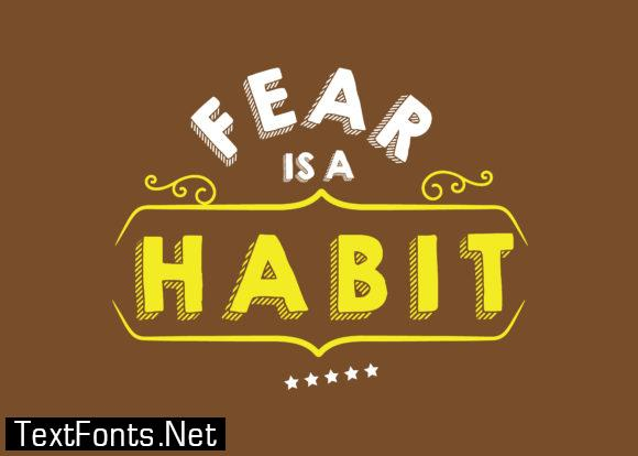 Fear is a Habit - Typography Graphic Templates