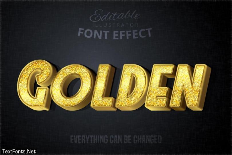 Glitch Golden Text Effect