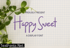 Happy Sweet Font