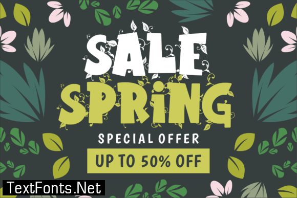 Hello Spring Font