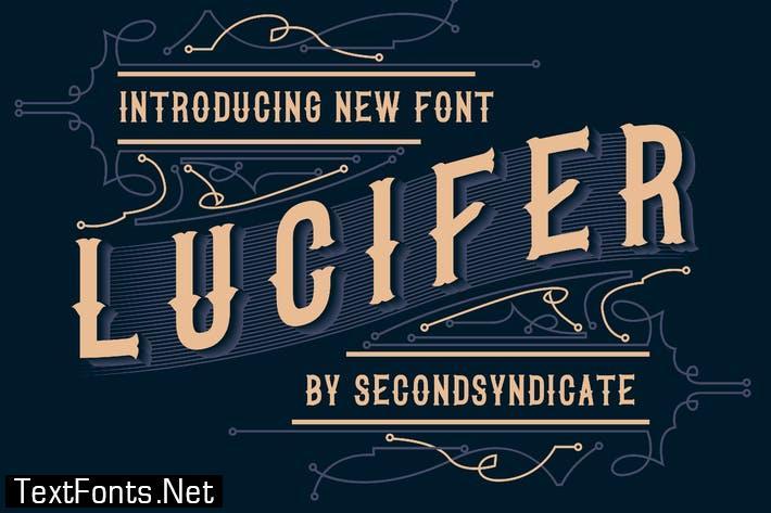 LUCIFER - Black letter font