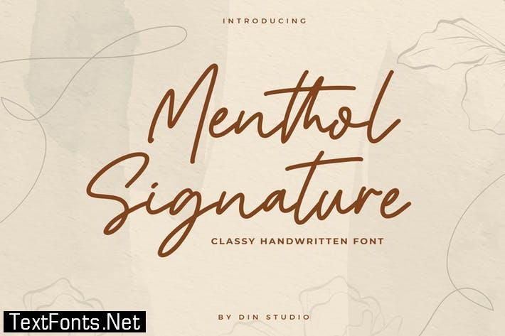Mentol Signature - Monoline Font