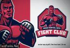 MMA fight club logo with fighter posing