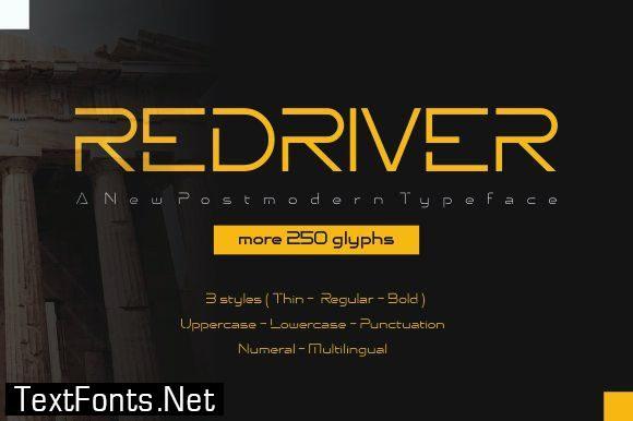 Redriver Font