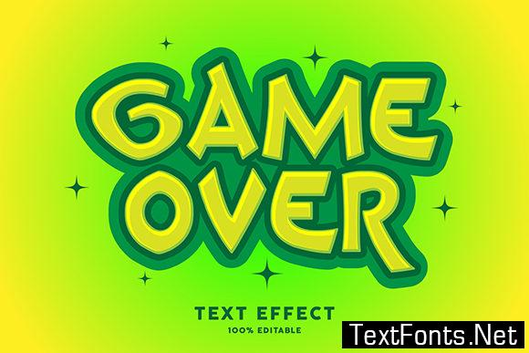 Text Effect - Game over Cartoon Style