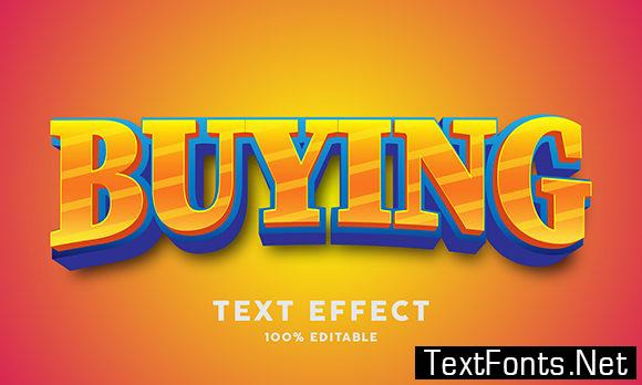 Text Effect - Strong Bold 3d Cartoon