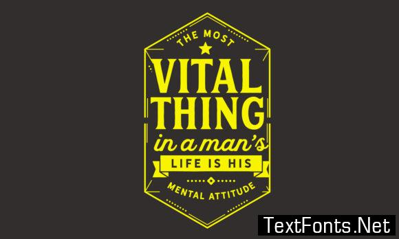 The Most Vital Thing - Typography Graphic Templates