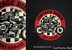 vintage badge logo of motorcycle garage