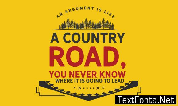 You Never Know Where It is Going to Lead - Typography Graphic Templates