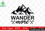 Adventure Quote Design, Wander More